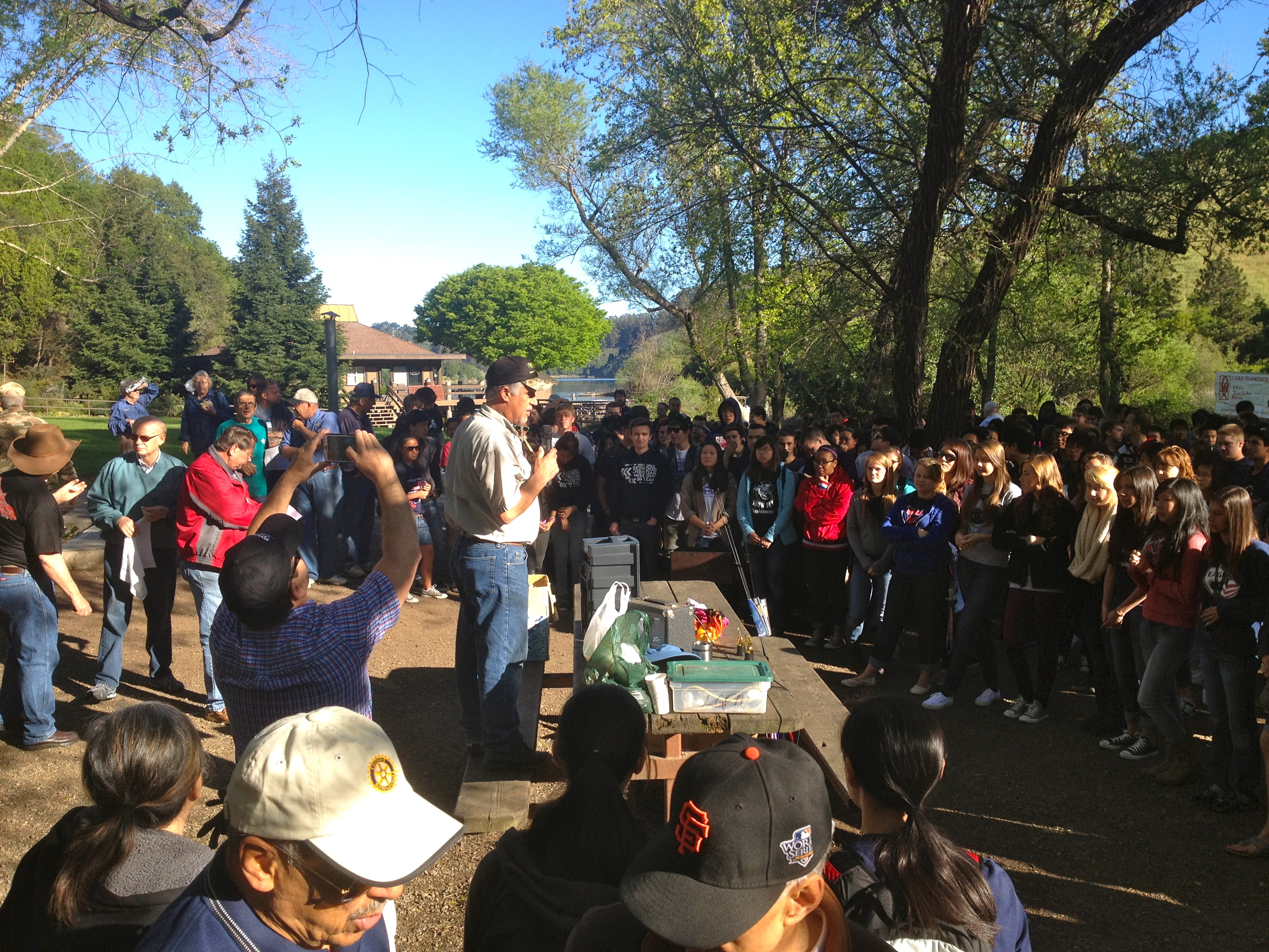 Let 39 s go fishing productions mens ministry catalyst for Lake temescal fishing
